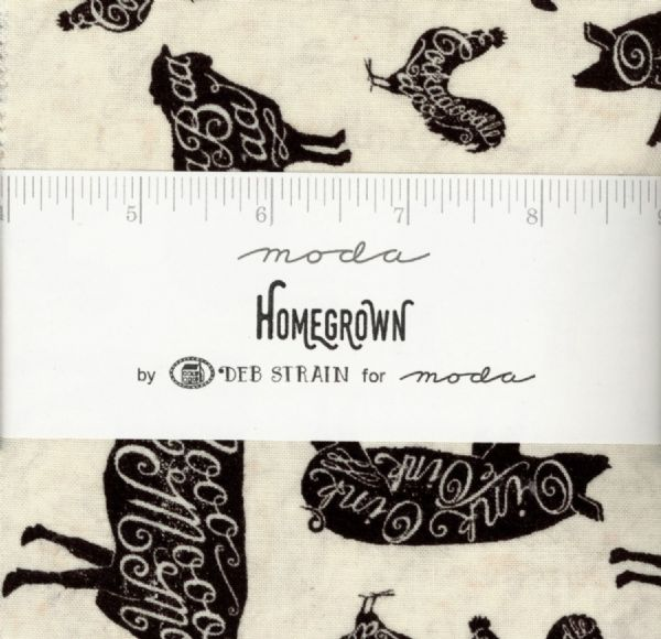 "Moda Charm Pack - Homegrown (42 x 5"" patchwork fabric squares)"